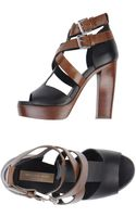 Michael Kors High-Heel Two-Tone Platform Sandals - Lyst
