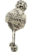 Eugenia Kim Black and White Bobble Trapper Hat - Lyst