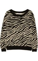Diane Von Furstenberg Estelle Zebraprint Knitted Sweater - Lyst