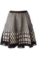 Antonio Marras Geometric Print Pleat Skirt - Lyst