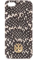 Tory Burch Whipsnake Hardshell Iphone 5 5s Case Charcoal - Lyst