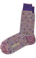 Robert Graham Veela Spotted Striped Socks - Lyst