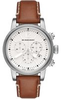 Burberry Womens Swiss Chronograph Tan Leather Strap 42mm - Lyst