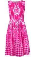 Oscar de la Renta Ikat Print Dress - Lyst
