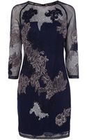 Karen Millen Dress - Lace Embroidered Illusion Detail - Lyst
