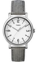Timex® Womens Premium Originals Classic Gray Tweedpattern Leather Strap Watch 38mm T2p212ab - Lyst