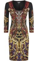Just Cavalli Bodycon Print Dress - Lyst