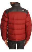 The North Face Nuptse 2 Red and Grey Down Jacket - Lyst