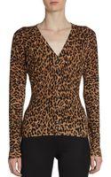 Dolce & Gabbana Fitted Leopard-print Cardigan - Lyst
