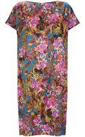 St. John Botanica Print Silk Dress - Lyst