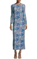 Melissa Masse Floralprint Jersey Maxi Dress - Lyst