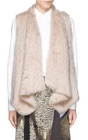 H Brand Audra Rabbit Fur Knit Drape Gilet - Lyst
