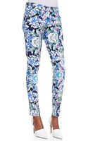 7 For All Mankind The Skinny Kaleidoscope Floral Jeans - Lyst