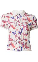 Vanessa Bruno Butterfly Printed Top - Lyst