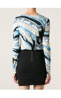 Emilio Pucci Printed Curved Hem Sweatshirt - Lyst