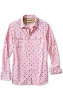 Banana Republic Heritage Palm Print Utility Shirt Heartthrob - Lyst