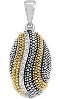 Lagos Soiree Caviar Diamond Wave Pendant - Lyst