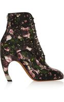 Givenchy Floral Print Leather Ankle Boots - Lyst