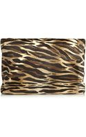 Tamara Mellon Dazzle Animal-print Calf Hair Clutch - Lyst