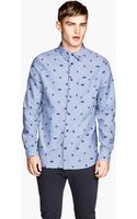 H&M Patterned Chambray Shirt - Lyst