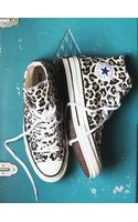 Free People Leopard Hi Top Chucks - Lyst
