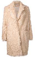 Elizabeth And James Iris Faux Fur Boyfriend Coat - Lyst