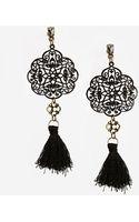 Asos Fine Filigree Tassel Earrings - Lyst