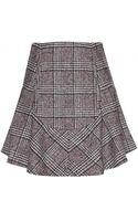 Carven Woolblend Tweed Skirt - Lyst