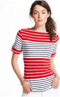 Tommy Hilfiger Colorblocked Striped Rolltab Tee - Lyst