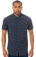 RVCA The Time Shift Ss Buttondown - Lyst