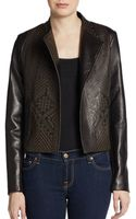Twelfth Street By Cynthia Vincent Etched Leather Openfront Jacket - Lyst