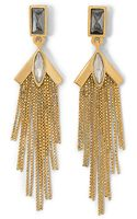 Vince Camuto Linear Fringe Earring - Lyst