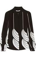 Diane Von Furstenberg Lysia Printed Silk Blouse - Lyst