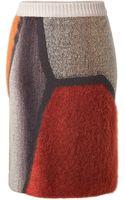 Missoni Wool Blend Geometric Skirt - Lyst