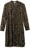 Etoile Isabel Marant Cray Animalprint Chiffon Dress - Lyst