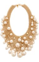 Kenneth Jay Lane Cascading Faux Pearl Necklace Pearl - Lyst