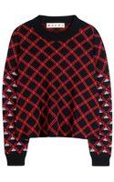 Marni Intarsia Wool Sweater - Lyst