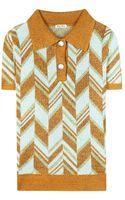 Miu Miu Wool-blend Knitted Top - Lyst