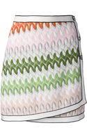 Missoni Wraparound Miniskirt - Lyst