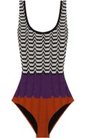 Missoni Stripped One Piece - Lyst