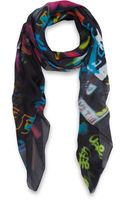 McQ by Alexander McQueen Black Hazy Night Modal Scarf - Lyst