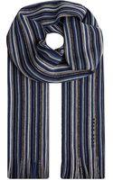 Hugo Boss Stripe Scarf Blue - Lyst
