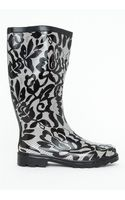 Missguided Tessie Monochrome Lace Print Wellies - Lyst