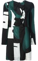 Marni Colour Block Print Dress - Lyst