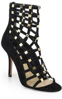 Michael Kors Cora Suede Cage Ankle Boot Sandals - Lyst