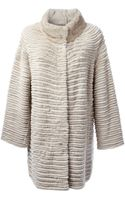 Yves Salomon Ribbed Loose Fit Coat - Lyst