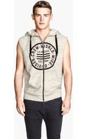 H&M Sleeveless Hooded Top - Lyst