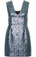 Topshop Plunge V Sequin Bodycon Dress - Lyst