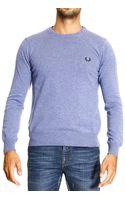 Fred Perry Sweater Super Geelon Crewneck 1 Yarn - Lyst