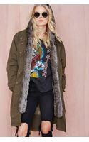 Nasty Gal Glamorous Isabelle Faux Fur Anorak - Lyst